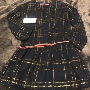 Cute new with tags girls blue and gold dress